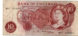 10 Shilling Note From Bank Of England 1960s - 1952-… : Elizabeth II