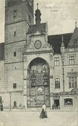 AK Olmütz Olomouc Mähren Kunstuhr 1906 K&k #03 - República Checa