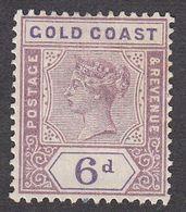 Gold Coast 1898 Q.Victoria  6d  SG30  MH - Gold Coast (...-1957)