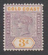 Gold Coast 1898 Q.Victoria  3d  SG29   MH - Gold Coast (...-1957)