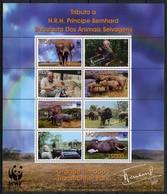 Mozambique 2002 MiNr. 2393 - 2396  Mocambique Savannah Elephant Birds WWF M\sh  MNH** 7,50 € - W.W.F.