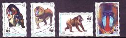 Equatorial Guinea 1991 MiNr. 1731 - 1734  Äquatorial-GuineaMandrill Wwf Monkeys 4v  MNH** 7,00 € - W.W.F.
