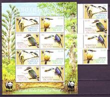 Norfolk 2004 Kingfisher BIRDS WWF M/sh+4v  MNH** - Unclassified