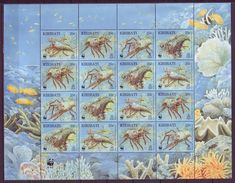 Kiribati 1998 Marine Life Wwf  Lobster M/SH +1 S\sh    MNH** - Unclassified