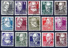 DDR 1952 Personalities Definitive Set Used (CTO) - Used Stamps