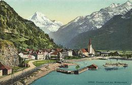 AK Flüelen Ort Bristenstock & Schiff Color ~1910/20 #07 - UR Uri