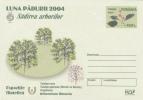 """Roumanie   2004  Flora ; """"Month Of The Forest"""" ; Pre-paid Envelope - Pflanzen Und Botanik"""
