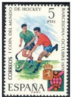 España 1971 Edifil 2058 Sello ** I Copa Mundial De Hockey 5Pts Spain Stamps Espagne Timbre Briefmarke Spanien Francoboll - 1931-Hoy: 2ª República - ... Juan Carlos I