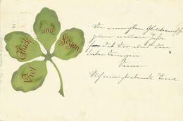 AK Neujahr Kleeblatt Prägeschrift Farblitho 1898 #01 - Anno Nuovo