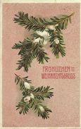 AK Weihnachten / Christmas - Tannenzweige Prägedruck 1907 #23 - Noël