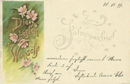 AK Neujahr Blumen Farblitho & Golddruck Erika 1899 #07 - Neujahr