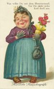 AK Neujahr Emanzipation Frau Hausdrache Color ~1910 #70 - New Year
