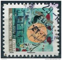 Pays : 189,07 (France : 5e République)  Yvert Et Tellier N° : Adhésif   373 (o) - Luchtpost