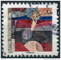 Pays : 189,07 (France : 5e République)  Yvert Et Tellier N° : Adhésif   374 (o) - Luchtpost