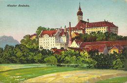 Ansichtskarte Andechs Ammersee Kloster Brauerei Künstler Color ~1930 #11 - Starnberg