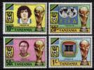 TANZANIE  N° 199/202  * *   ( Cote 11e )  Cup  1982  Football  Fussball   Soccer - Coppa Del Mondo
