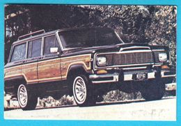 CHRYSLER JEEP ...  ( Yugoslav Old Vintage Card - Numbered ) * Car Automobile Auto Cars Automobiles Autos Oldtimer - Other Collections