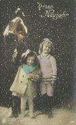 AK Neujahr Kinder Sektflasche Glocke Color 1914 #46 - Neujahr