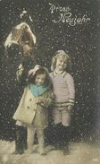 AK Neujahr Kinder Sektflasche Glocke Color 1914 #46 - Anno Nuovo