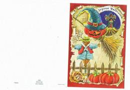 Halloween     Carte    Gauffrée    11.5 Cm X 17.2 Cm - Halloween