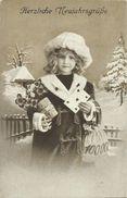AK Neujahr New Year Mädchen Glücksbringer 1918 #53 - Neujahr