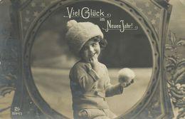 AK Neujahr New Year Mädchen Wollmütze Schneeball 1911 #54 - Nieuwjaar