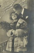 AK Neujahr New Year Liebespaar Frau Mit Pelz 1925 #90 - Neujahr