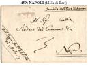 Mola 00459 - Raro Piego (con Testo) - Bollo Di Cancelleria, Del 24 Settembre 1810 - Dipendeva Da Bari. - Italia