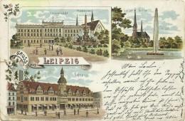 AK Leipzig Mehrbild-Farblitho 1904 #165 - Leipzig