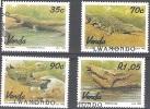 Venda 1992 Michel 246 - 249 O Cote (2002) 6.40 Euro Crocodiles Cachet Rond - Venda
