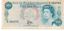ISLE OF MAN - 50 Pence NOTE 1979 - Banknotes