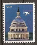 USA. Scott # 3472 Used. Capitol Dome High Value 2001 Self Adhesive - Gebraucht