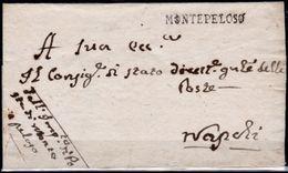 Montepeloso-00500 - Piego Postale Senza Testo - Officina Di Posta Chiusa Nel 1812 - - 1. ...-1850 Prefilatelia