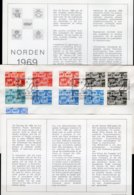 CEPT Nordland-Set 1969 FL 654, IS 426/7, DK 475/6, NO 579/0 +S 629/0 A,C/D O 8€ Historische Goggen Cover From Europa - Timbres
