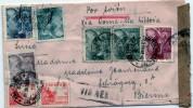 España 1940. Correo Aereo De Barcelona A Suiza Via Roma. Censura. - Marcas De Censura Nacional