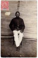 Carte Photo, Jeune Homme Noir, Costume, Militaire ? - Dahomey