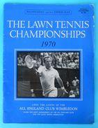 WIMBLEDON 1970. - The Lawn Tennis Championships Official Programme * Program Programm Programa Programma Tenis - Books