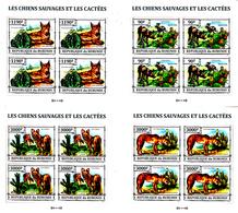 Burundi 2158 / 61 + Bf 379 Chiens Sauvages Et Cactus ( Blocs De 4 ) - Cactus