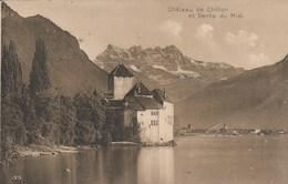 SUISSE - Vaud - Château De Chillon Et Dents Du Midi. N° 125 / 1916 - Voyagée 1916 - VD Vaud