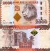 Tanzania 2000 Shilling 2011 2010 NEW ISSUE /Africa Lion - Tanzania
