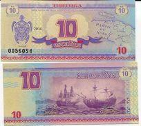 TORTUGA HAITI 10 ESCALINS 2014 TURTLE SHIP UNC - Haiti