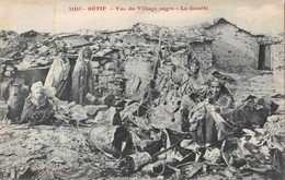 AF01 Algeria, Setif, Vue Du Village Negre, Le Gourbi, Vintage Postcard - Setif