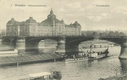 AK Dresden Kultusministerium Carolabrücke ~1910 #73 - Dresden