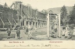 AK Bad Münster Gradirwerk Spielplatz Kinder 1906 #08 - Bad Muenster A. Stein - Ebernburg