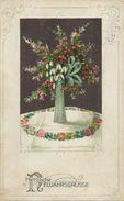 AK Neujahr Blumen In Vase Idyll-Leinen Color 1929 #85 - Año Nuevo