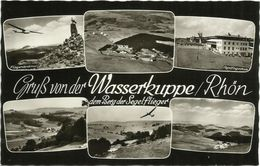 Ansichtskarte Gersfeld Wasserkuppe Rhön Segelflugschule Mehrbild ~1965 #14 - 1946-....: Moderne