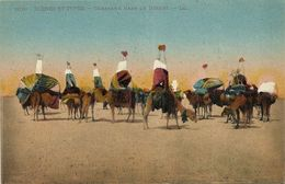 AK / PC Ägypten Egypt Caravane Dans Le Desert Color ~1910 #03 - Egypt