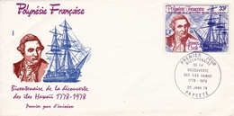 Polynésie Française Papeete James Cook Bicentenaire De La Découverte Des îles Hawai Hawaii Océanie 1978 - Polynésie Française