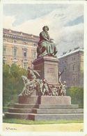 AK Wien Beethoven-Denkmal Sign R Preuß Color ~1912 #05 - Wien