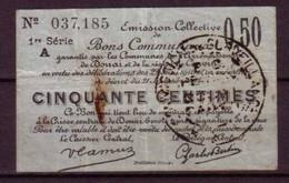 NORD - GUERRE 14/18 - BON COMMUNAL De 50c. De DOUAI - Bons & Nécessité